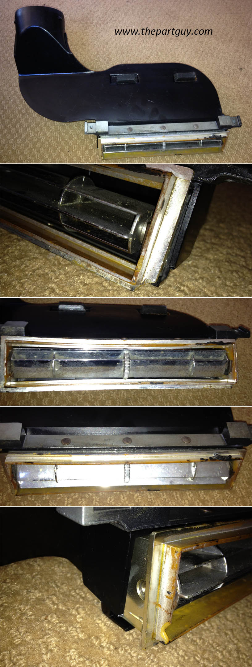 1966 chevelle a c center vent duct assembly air for 1967 chevelle vent window assembly