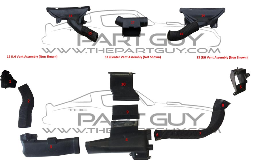 The Part Guy  C  U0026 Heater Vents  U0026 Ducts