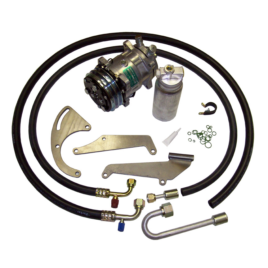 SB Chevy Low Profile PS A//C Bracket /& V-Belt Air Compressor Alan Grove 134R SBC