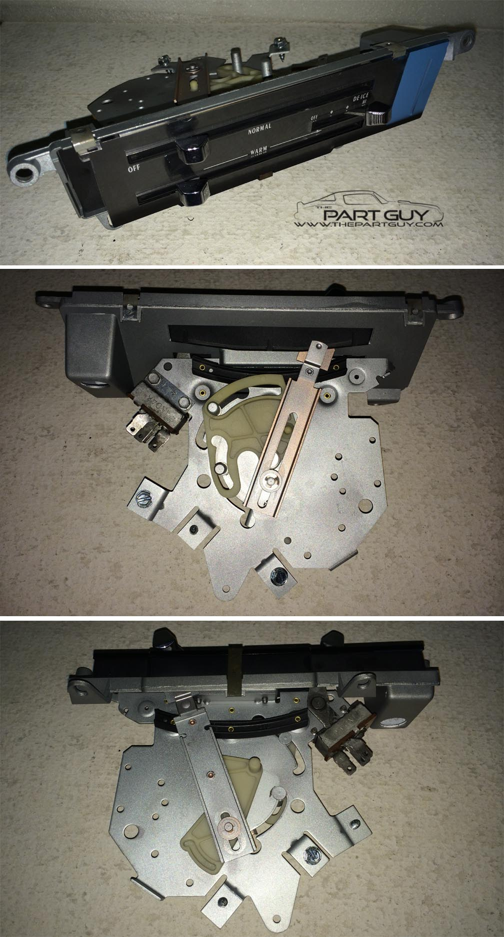 197072 Gto Lemans Heater Control W New Lens Nona C Heat Pontiac